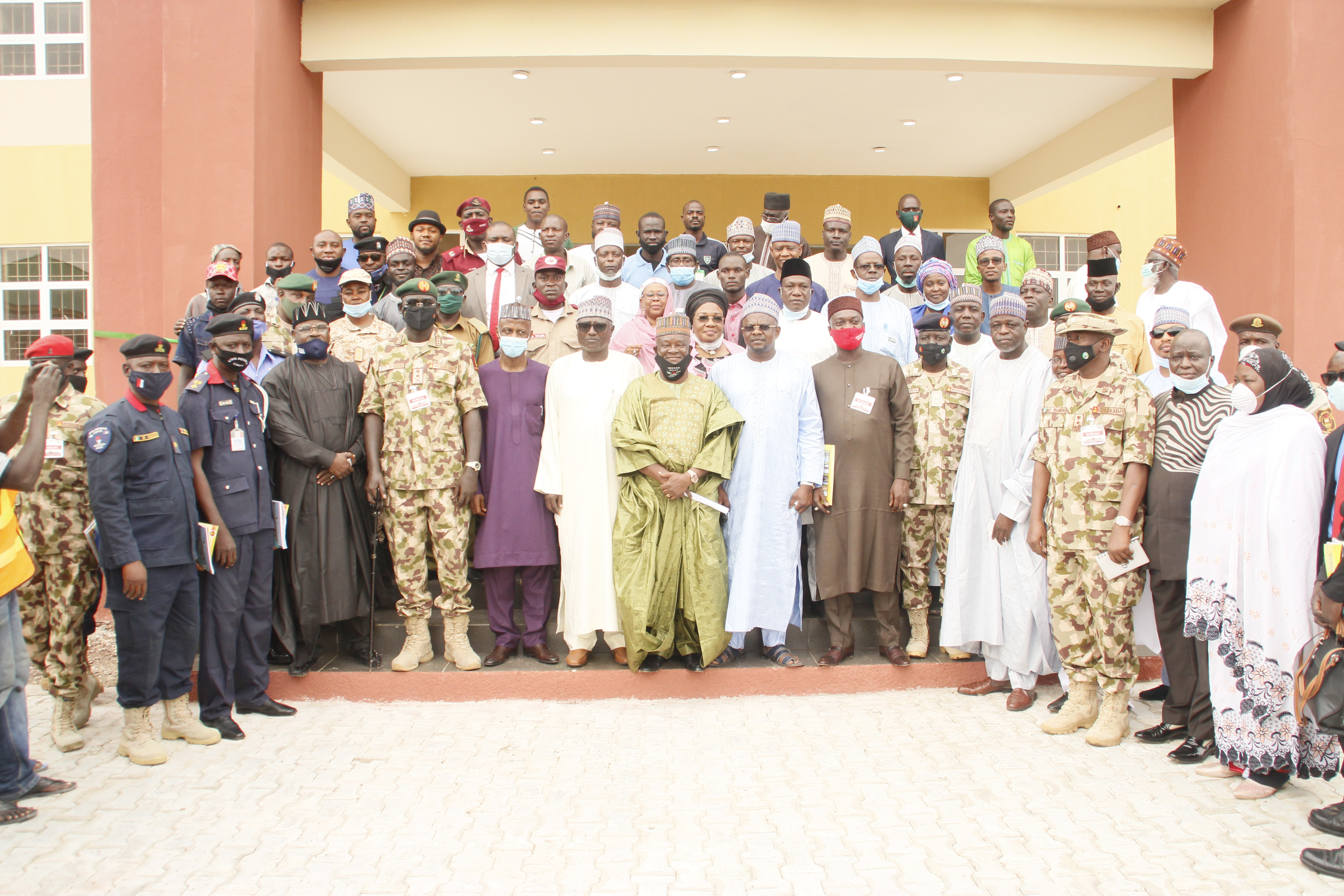 COMMISSIONING OF FACULTIES, ICT CENTRE, SENIOR STAFF QUARTERS, AND PERIMETER FENCE IN NIGERIAN ARMY UNIVERSITY BIU ON 25TH AUGUST 2020.